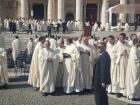Parte del clero cremonese a Roma